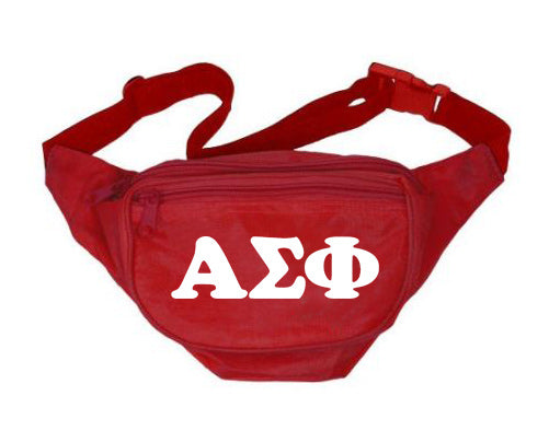 Alpha Sigma Phi Fanny Pack Letters Layered Fanny Pack