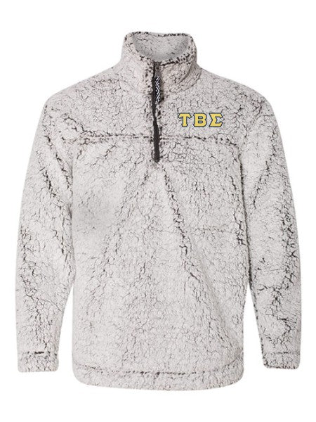 Tau Beta Sigma Embroidered Sherpa Quarter Zip Pullover