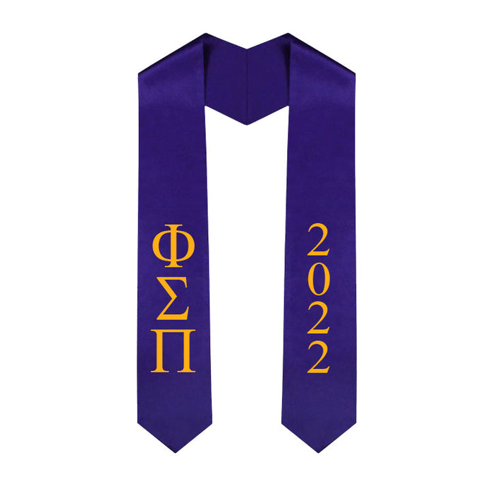 Phi Sigma Pi Vertical Grad Stole with Letters & Year