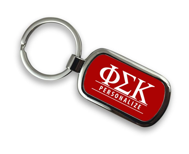 Phi Sigma Kappa Chrome Key Chain