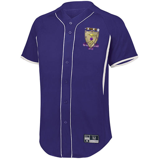 Sigma Alpha Mu 7 Full Button Baseball Jersey