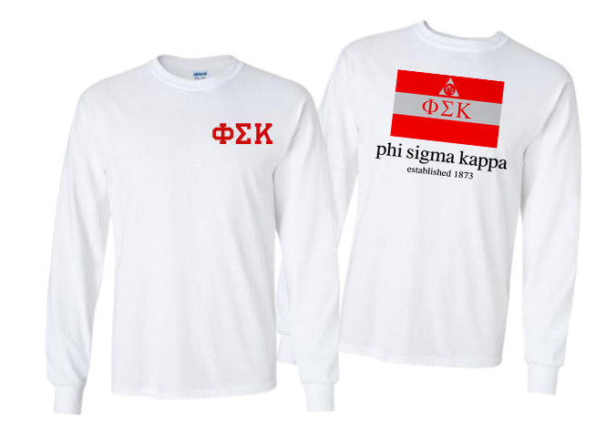 Phi Sigma Kappa Long Sleeve Flag Tee