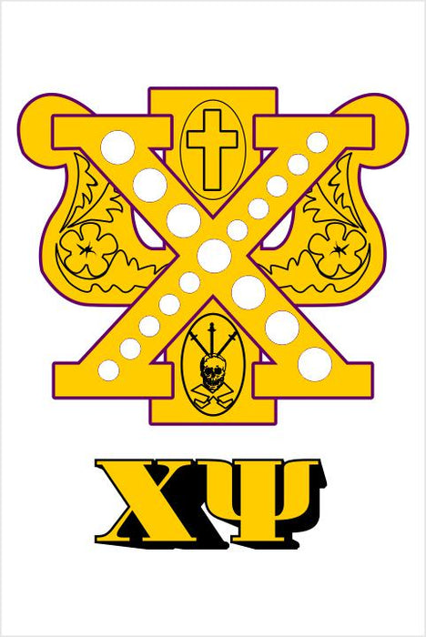 Chi Psi Crest Window Decals Stickers Crest Decal