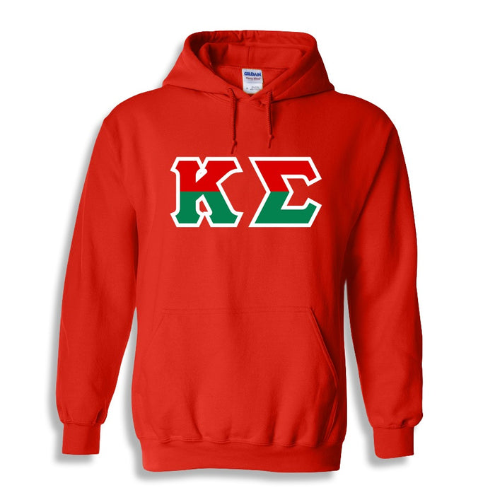 Kappa Sigma Two Toned Lettered Hooded Sweatshirt