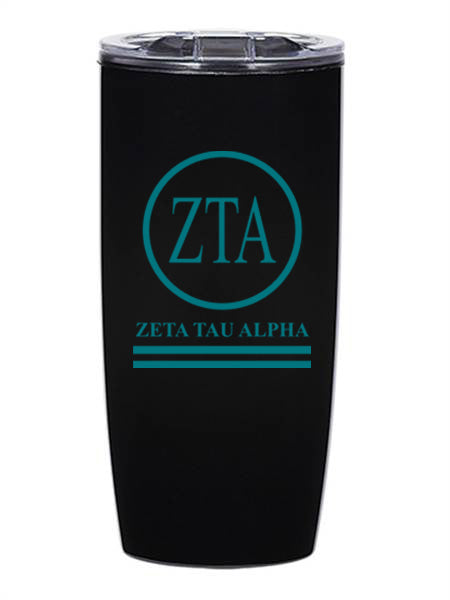 Zeta Tau Alpha Circle Stripes 19 oz Everest Tumbler