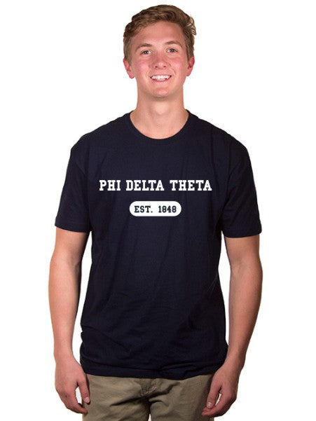 Phi Delta Theta Year Established Jersey Tee