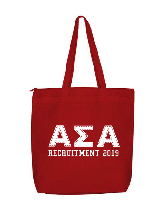 Alpha Sigma Alpha Collegiate Letters Event Tote Bag