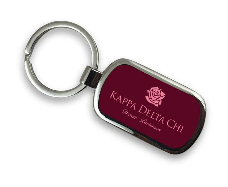 Kappa Delta Chi Chrome Key Chain