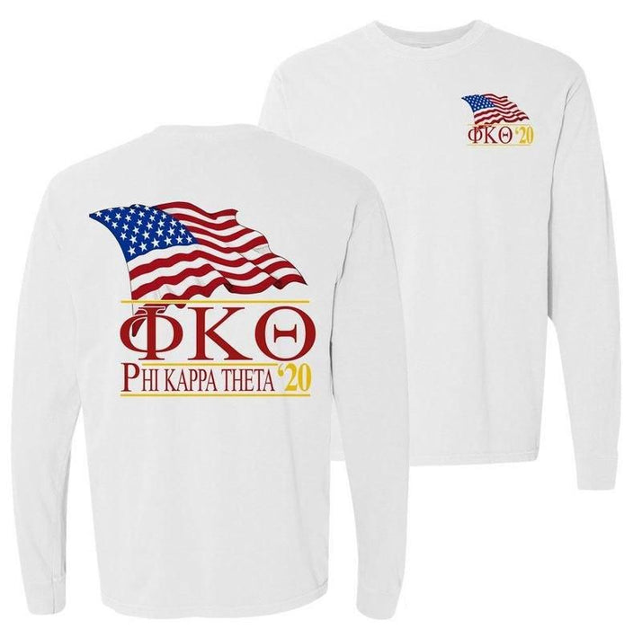 Phi Kappa Theta Patriot Flag Comfort Colors Long Tee