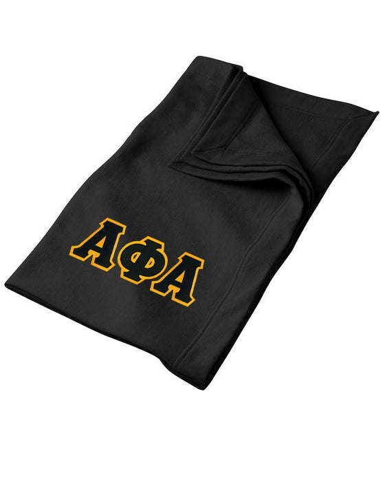 Alpha Phi Alpha Greek Twill Lettered Sweatshirt Blanket
