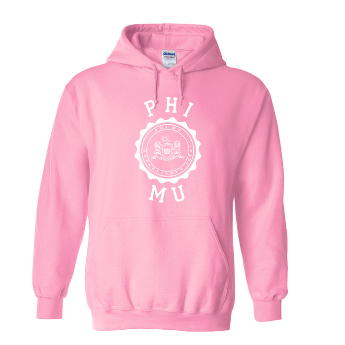 Phi Mu World Famous Seal Crest Hoodie