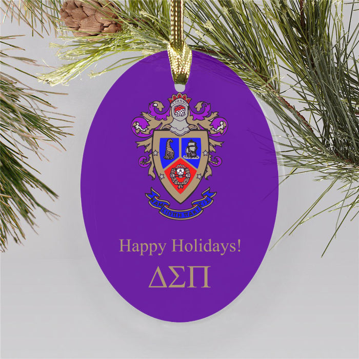 Delta Sigma Pi Color Crest Ornament