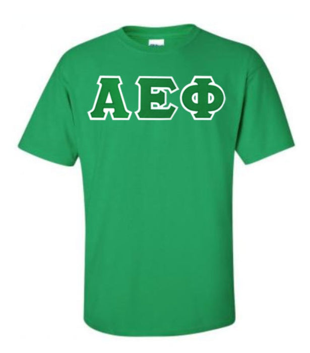 Alpha Epsilon Phi Lettered T Shirt