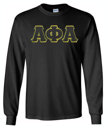 Alpha Phi Alpha Long Sleeve Greek Lettered Tee