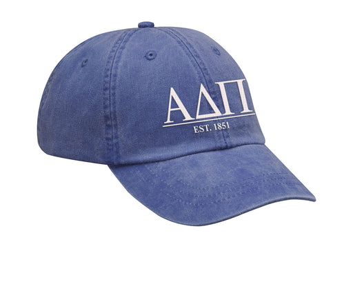 Alpha Delta Pi Letters Year Embroidered Hat