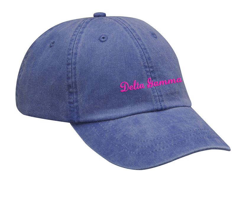 Delta Gamma Cursive Embroidered Hat