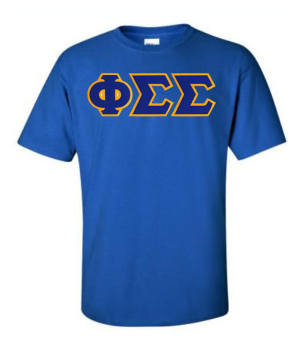Phi Sigma Sigma Lettered T Shirt