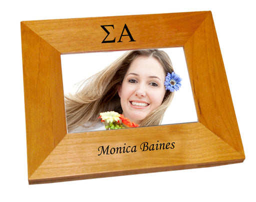Sigma Alpha Wood Picture Frame
