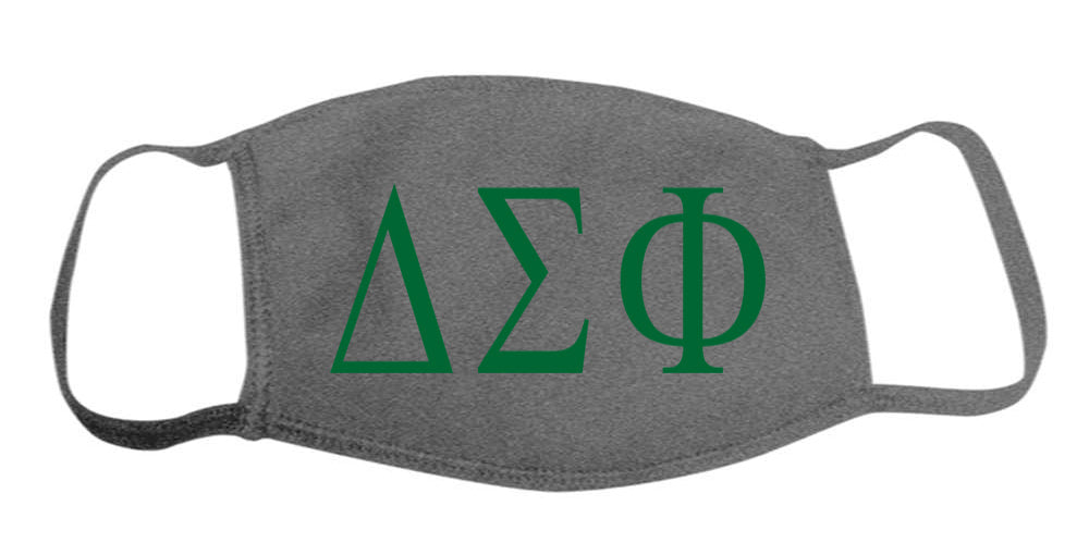 Delta Sigma Phi Face Mask With Big Greek Letters