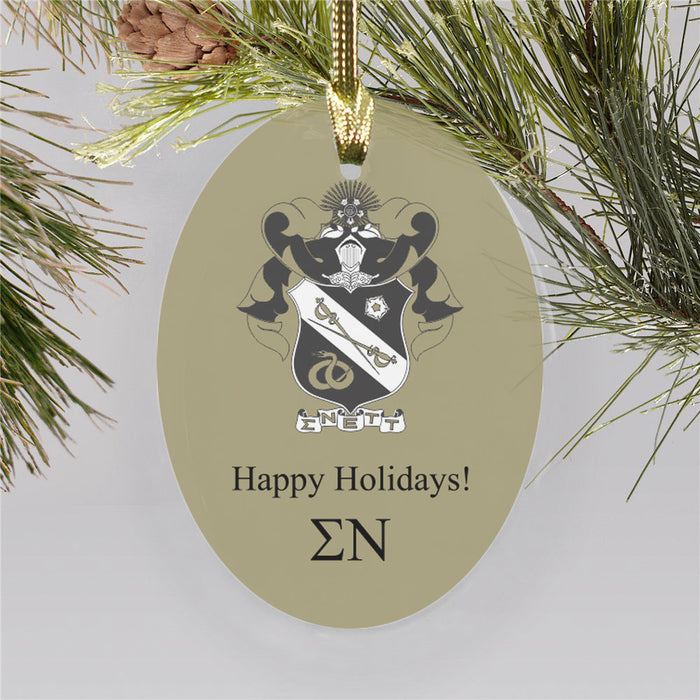 Sigma Nu Color Crest Ornament