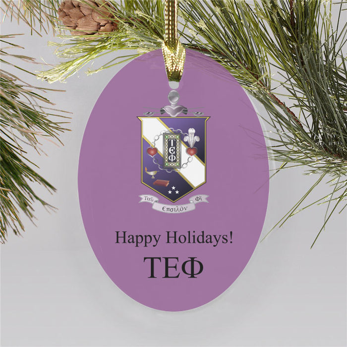 Tau Epsilon Phi Color Crest Ornament