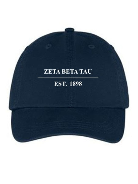 Zeta Beta Tau Line Year Embroidered Hat
