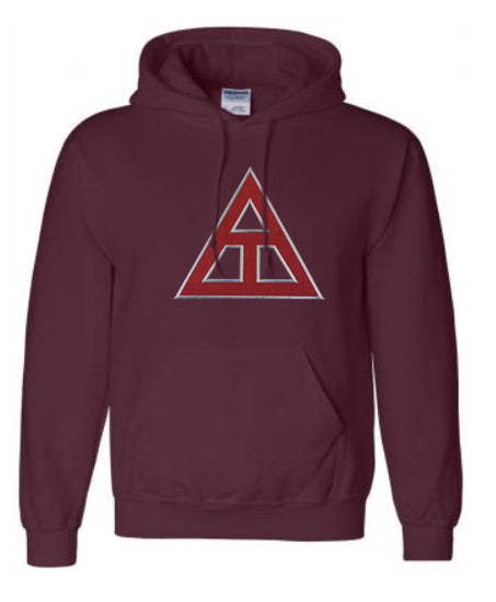 Triangle Lettered Hoodie
