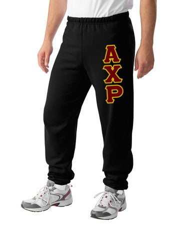 Alpha Chi Rho Sweatpants with Sewn-On Letters