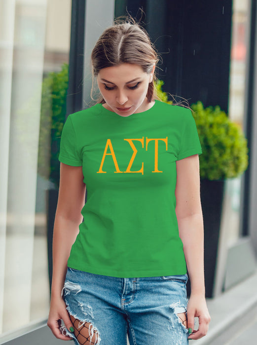 Alpha Sigma Tau University Letter T-Shirt