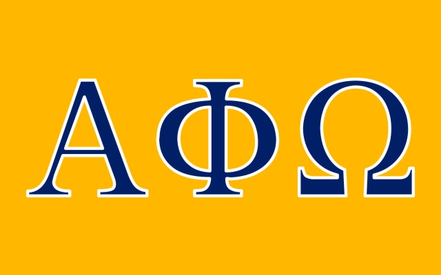 Alpha Phi Omega Fraternity Flag Sticker