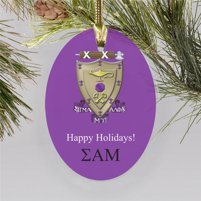 Sigma Alpha Mu Color Crest Ornament