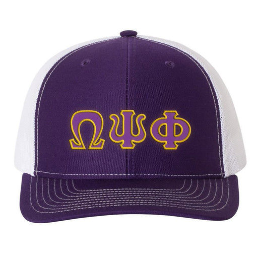 Omega Psi Phi Greek Trucker Cap