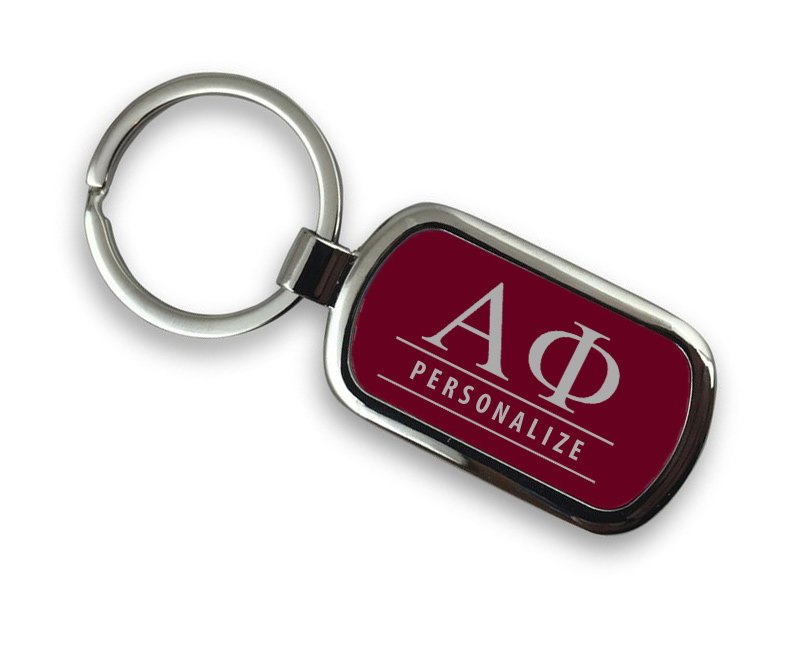 Alpha Phi Chrome Key Chain