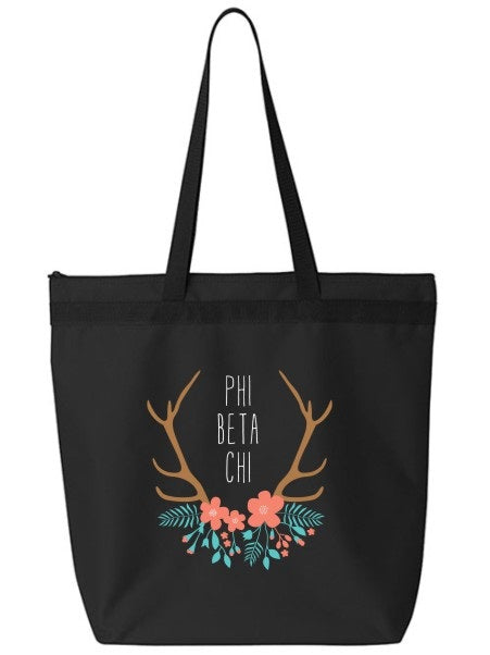 Phi Beta Chi Antler Tote Bag