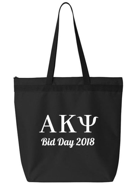 Alpha Kappa Psi Roman Letters Event Tote Bag