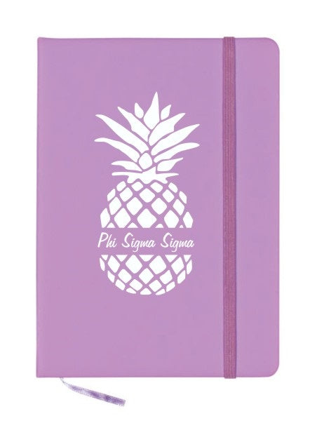 Phi Sigma Sigma Pineapple Notebook