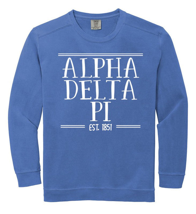 Alpha Delta Pi Comfort Colors Custom Sorority Sweatshirt