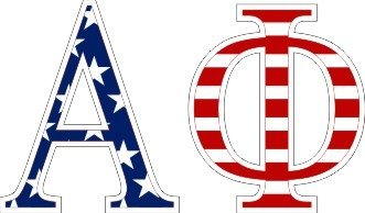 Alpha Phi American Flag Letter Sticker - 2.5