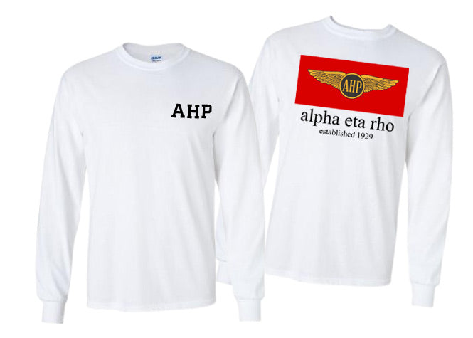 Alpha Eta Rho Long Sleeve Flag Tee