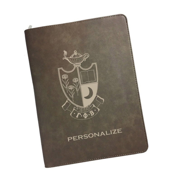 Gamma Phi Beta Leatherette Portfolio with Notepad
