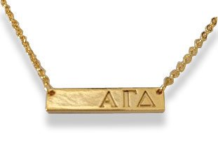 Alpha Gamma Delta Bar Necklace