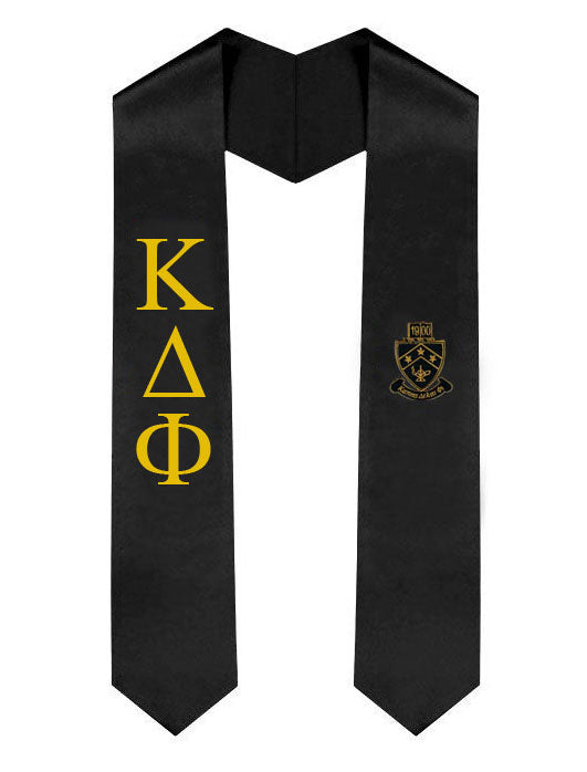 Kappa Delta Phi Lettered Graduation Sash Stole with Crest