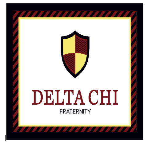 Delta Chi Afghan Blanket Throw