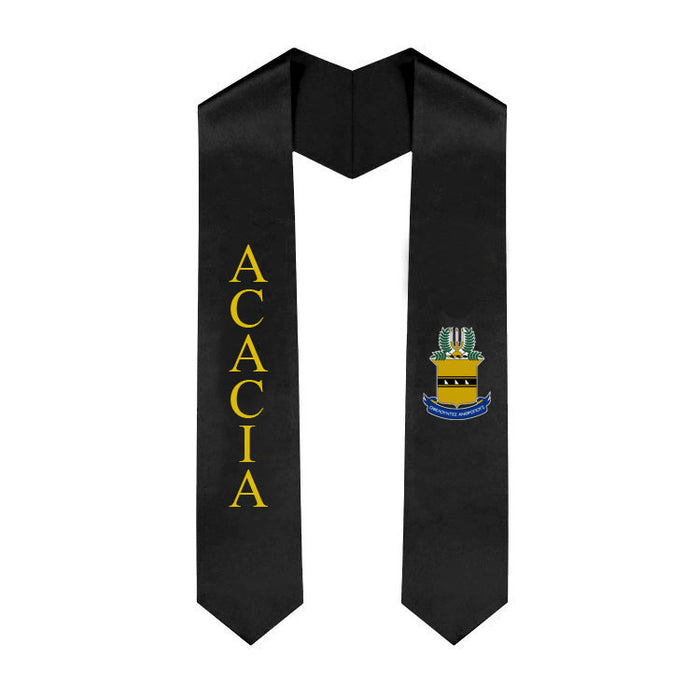 Acacia Lettered Graduation Sash Stole with Crest