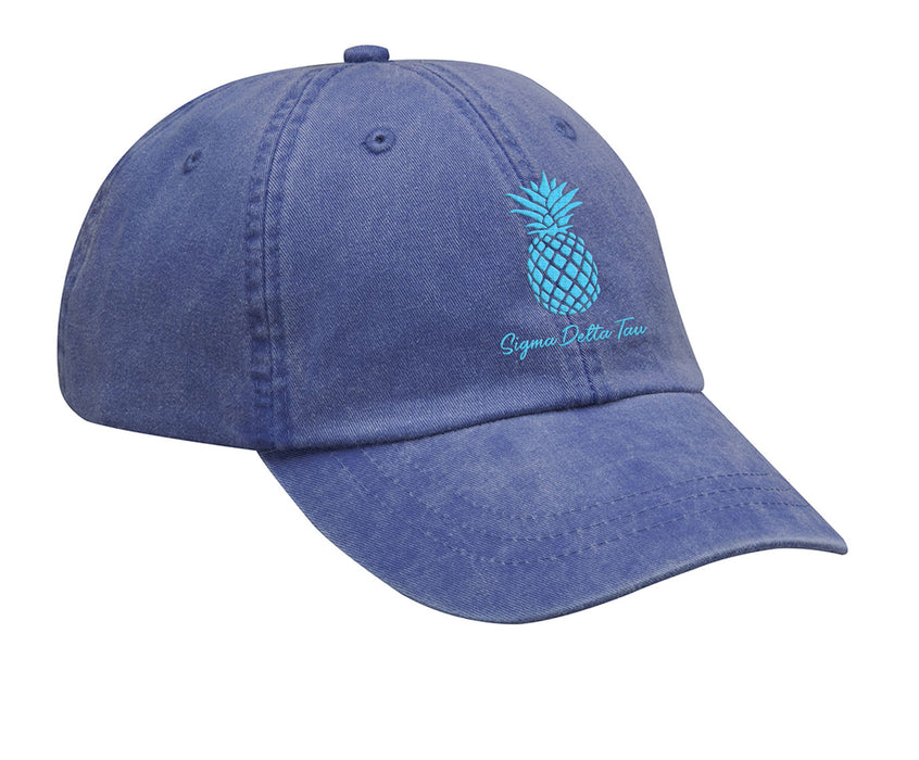 Sigma Delta Tau Pineapple Embroidered Hat