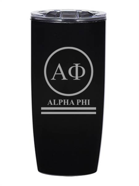 Alpha Phi Circle Stripes 19 oz Everest Tumbler