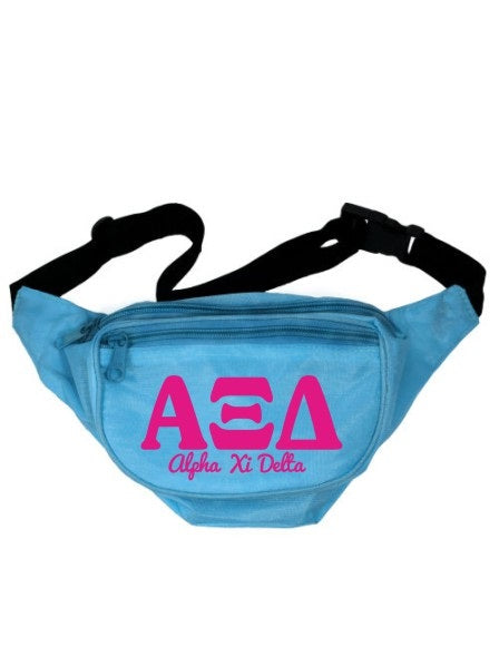 Alpha Xi Delta Letters Layered Fanny Pack
