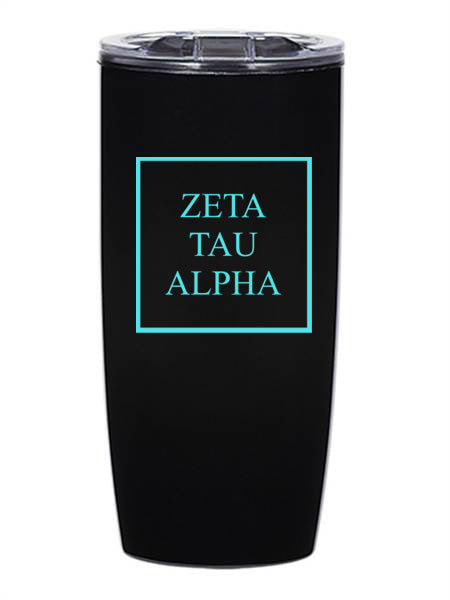 Zeta Tau Alpha Box Stacked 19 oz Everest Tumbler