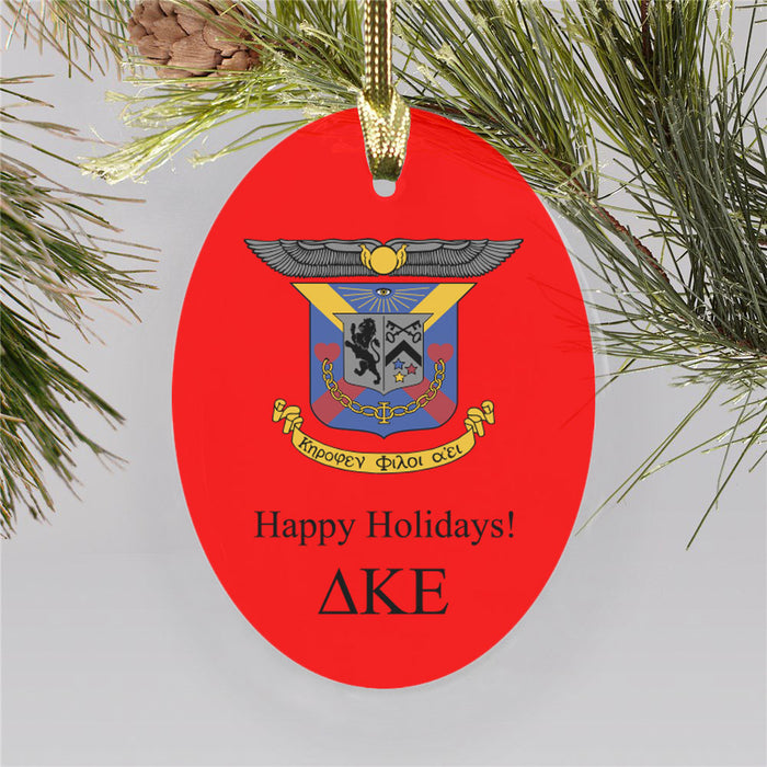 Delta Kappa Epsilon Color Crest Ornament