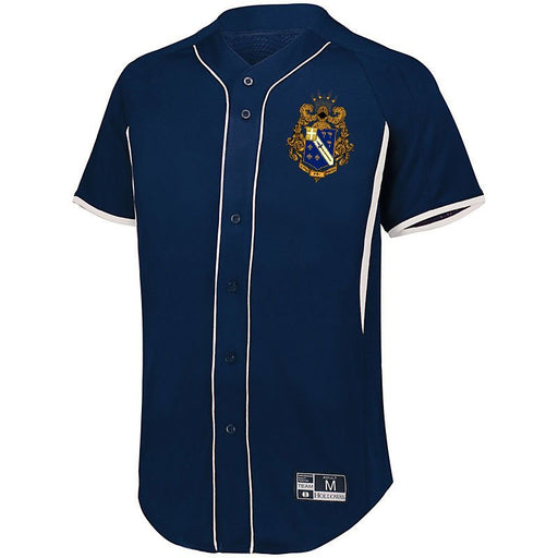 Alpha Phi Omega 7 Full Button Baseball Jersey